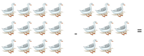 Subtraction of geese