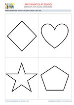 Kindergarten flash cards: shapes A6 size