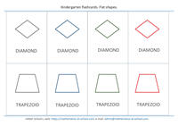 Kindergarten math flash cards: shapes