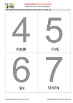 Pre-k math flash cards: numbers A6 size