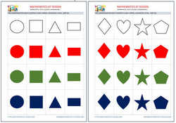 Pre-k math shapes flash cards, free printable pdf and jpg.