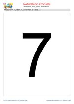 Preschool math flash cards: numbers