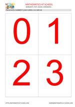 Preschool flash cards: numbers A6 size