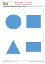 Preschool math flash cards: shapes A6 size
