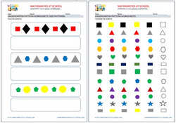 Kindergarten worksheets: patterns.