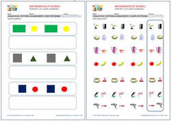 Preschool worksheets: patterns.
