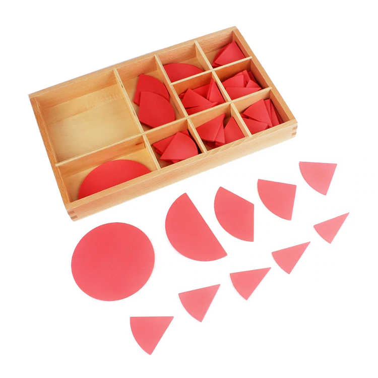 Baby Toy Montessori Cut-Out Labeled Fraction Circles 1-10 Teaching Aids Wood Board Education Preschool Kids Brinquedos Juguete , picture 1