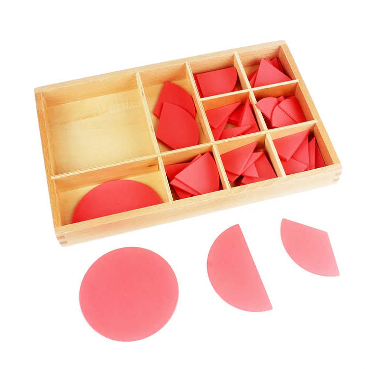 Baby Toy Montessori Cut-Out Labeled Fraction Circles 1-10 Teaching Aids Wood Board Education Preschool Kids Brinquedos Juguete , picture 2