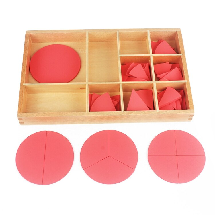 Baby Toy Montessori Cut-Out Labeled Fraction Circles 1-10 Teaching Aids Wood Board Education Preschool Kids Brinquedos Juguete , picture 4
