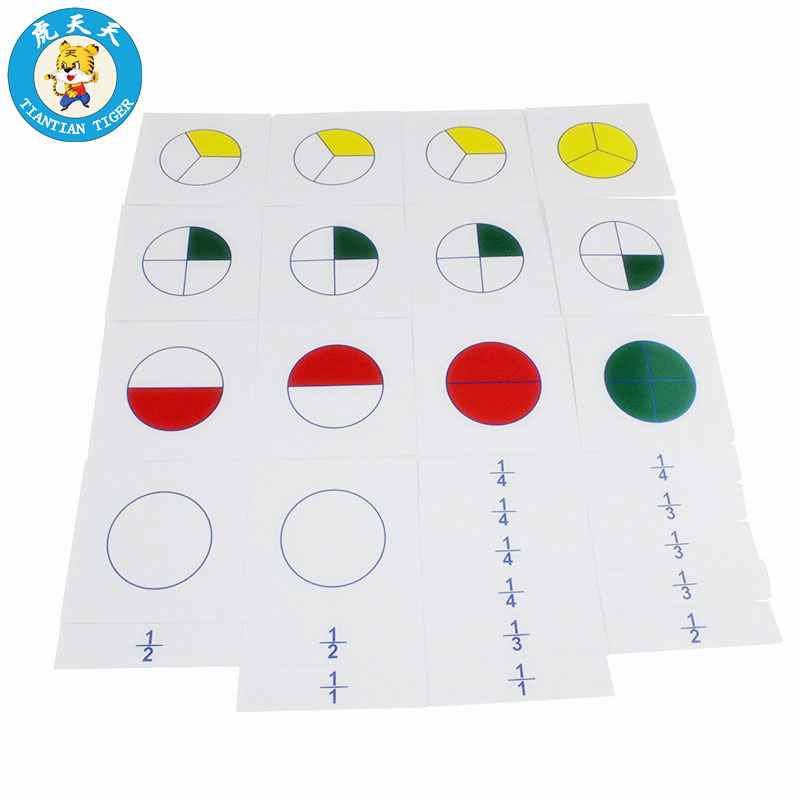 Baby Toys Material Early Education Teaching Aids. Cards For Large Fraction Skittles. , picture 1