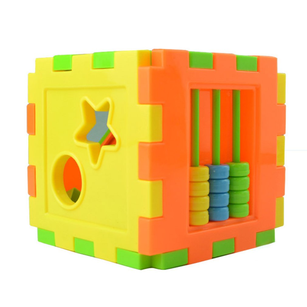 Baby Multi Shape Sorter Intelligence Box Cognitive Match Building Blocks Activity Cube Early Educational Toys For Children Giftpicture 2