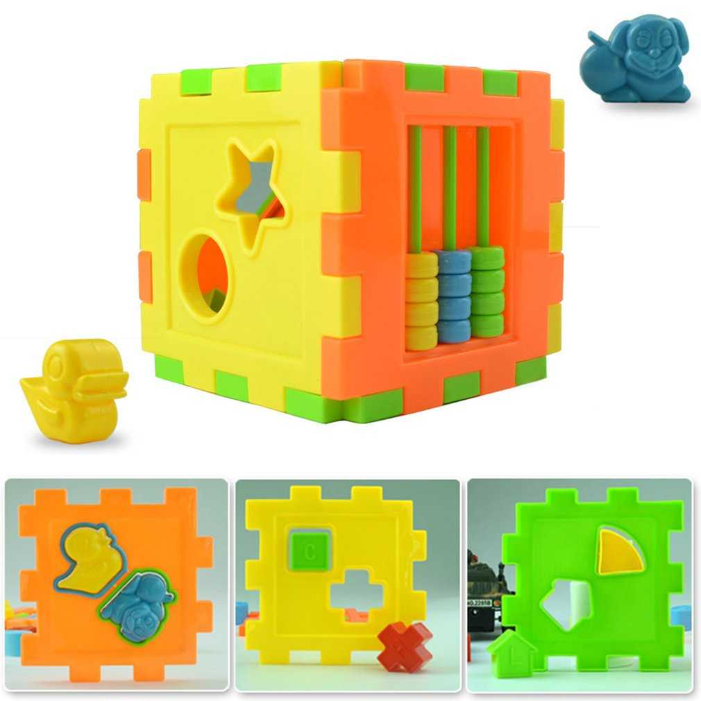 Baby Multi Shape Sorter Intelligence Box Cognitive Match Building Blocks Activity Cube Early Educational Toys For Children Giftpicture 3
