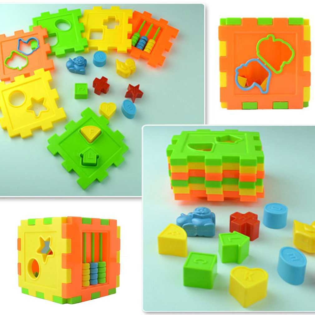 Baby Multi Shape Sorter Intelligence Box Cognitive Match Building Blocks Activity Cube Early Educational Toys For Children Giftpicture 4