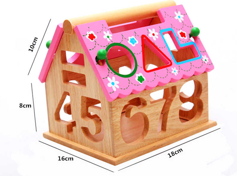 13 Holes Intelligence Box Wooden Shape Sorter Baby Cognitive and Matching Building Blocks Kids Children Early Eductional Toys , picture 5