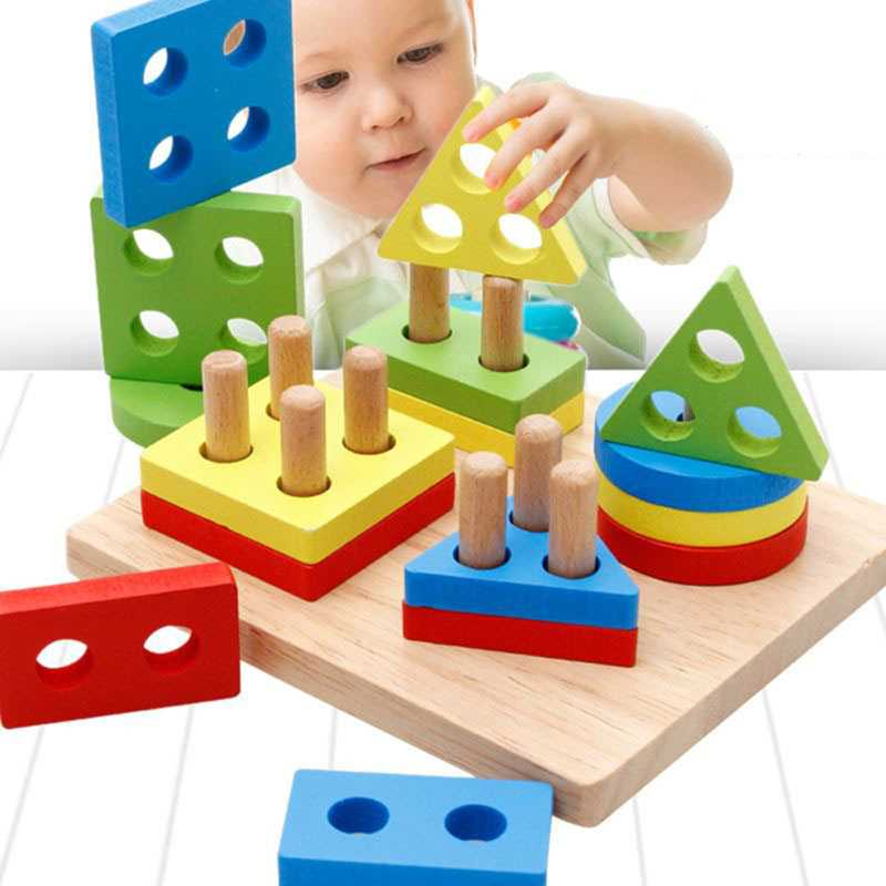 Geometric Shapes Matching Games Educational Wooden Toys for Children. Early Learning Exercises.picture 2