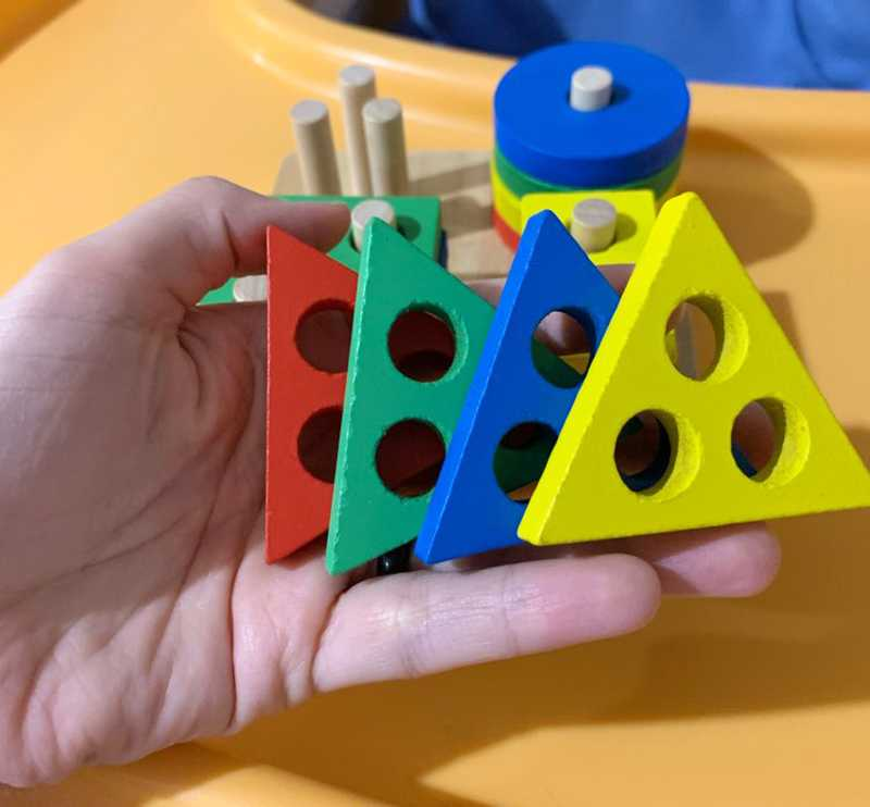 Geometric Shapes Matching Games Educational Wooden Toys for Children. Early Learning Exercises.picture 11