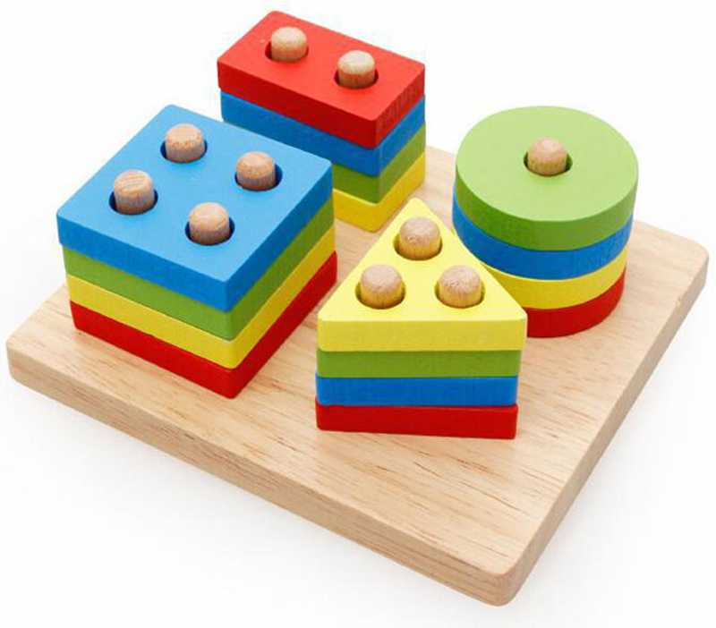 Geometric Shapes Matching Games Educational Wooden Toys for Children. Early Learning Exercises.picture 3
