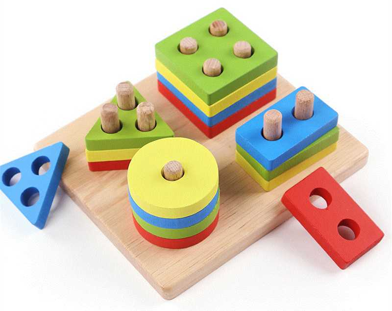 Geometric Shapes Matching Games Educational Wooden Toys for Children. Early Learning Exercises.picture 4