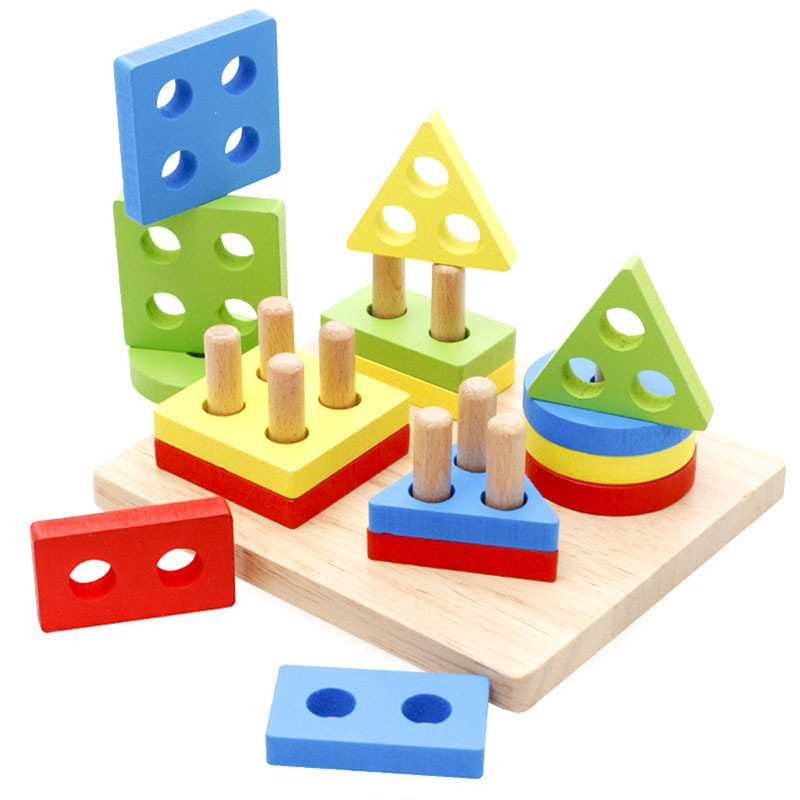Geometric Shapes Matching Games Educational Wooden Toys for Children. Early Learning Exercises.picture 6