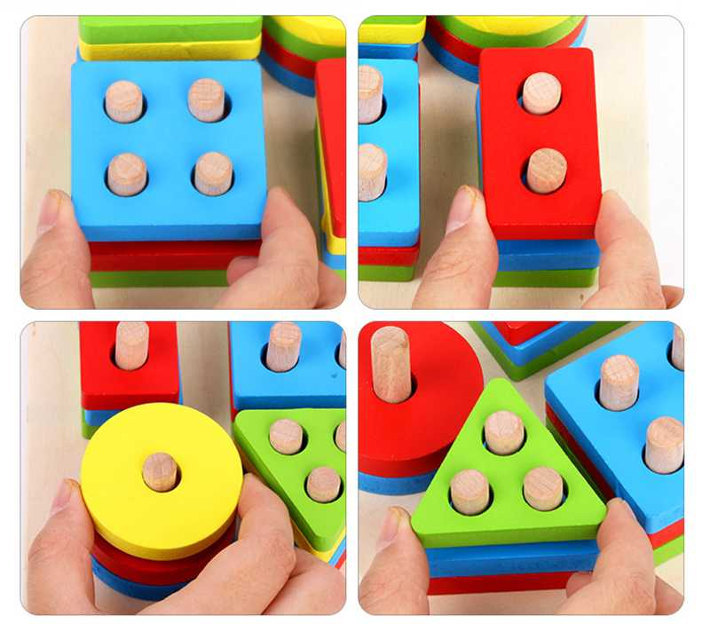 Geometric Shapes Matching Games Educational Wooden Toys for Children. Early Learning Exercises.picture 7