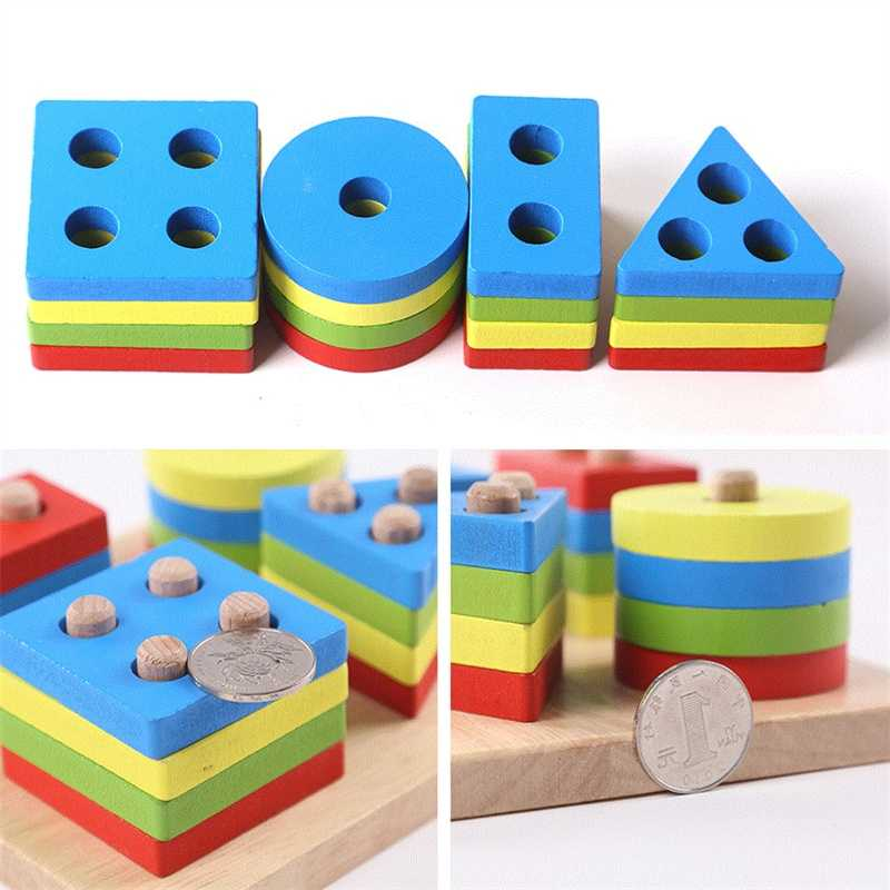 Geometric Shapes Matching Games Educational Wooden Toys for Children. Early Learning Exercises.picture 8