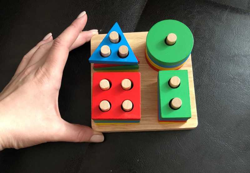 Geometric Shapes Matching Games Educational Wooden Toys for Children. Early Learning Exercises.picture 9
