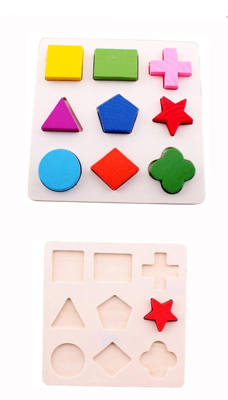 Wooden Geometric Shapes Sorting Math Montessori Puzzle. Preschool Learning Educational Game. Baby Toddler Toys for Children.picture 2