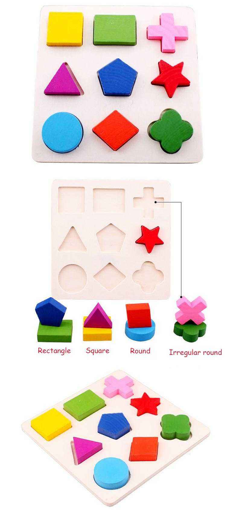 Wooden Geometric Shapes Sorting Math Montessori Puzzle. Preschool Learning Educational Game. Baby Toddler Toys for Children.picture 6