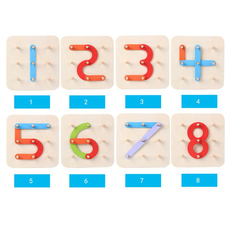 Wooden Letter Number Sorter Puzzle Educational Stacking Blocks Toy Shape Color Construction Sorter Activity Boardpicture 6