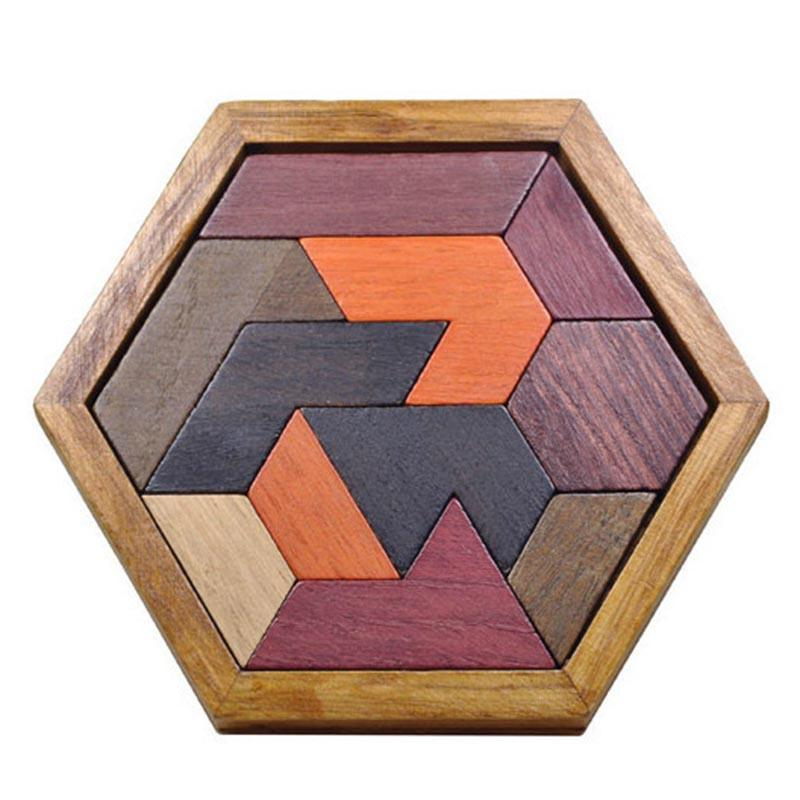 Wooden Puzzles Jigsaw Board Geometric Shape Toys. Child Educational Brain Teaser. Non Toxic Wood Children Kids Gift Present.picture 1