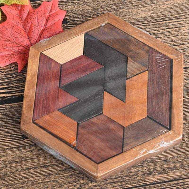 Wooden Puzzles Jigsaw Board Geometric Shape Toys. Child Educational Brain Teaser. Non Toxic Wood Children Kids Gift Present.picture 2