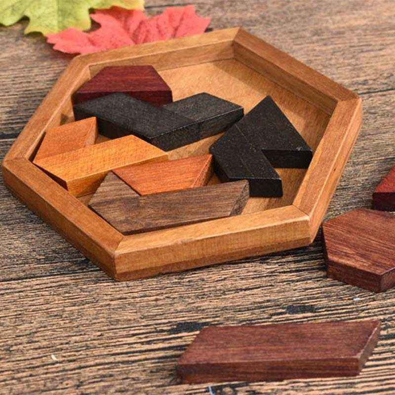 Wooden Puzzles Jigsaw Board Geometric Shape Toys. Child Educational Brain Teaser. Non Toxic Wood Children Kids Gift Present.picture 3