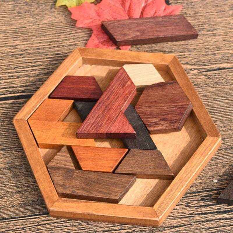 Wooden Puzzles Jigsaw Board Geometric Shape Toys. Child Educational Brain Teaser. Non Toxic Wood Children Kids Gift Present.picture 4