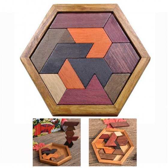 Wooden Puzzles Jigsaw Board Geometric Shape Toys. Child Educational Brain Teaser. Non Toxic Wood Children Kids Gift Present.