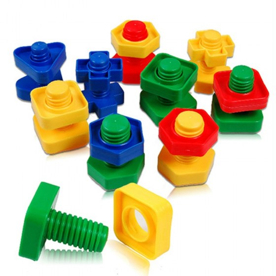 Screw Building blocks Sets. Plastic Insert Shape toys for children.