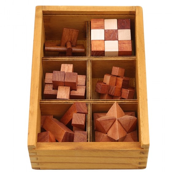 Wooden Kong Ming Lock Game Toy For Children. Kids Drop Shipping Brain Teaser Interlocking Puzzles.