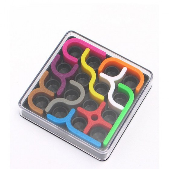 Creative 3D Intelligence Puzzle Curve Sudoku Puzzle Games. Geometric Children Learning Toy.