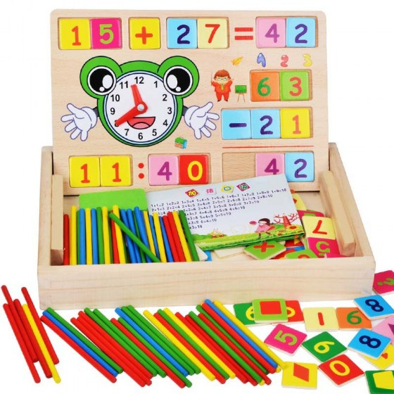 Counting Wooden Sticks Box Set. Numbers Blocks Math Teaching Game. Education Intelligence Stick Toy Gifts.