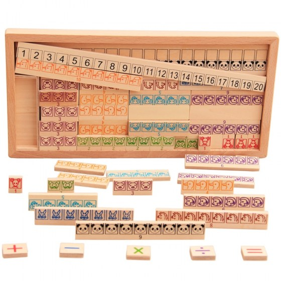 Arithmetic Addition Subtraction Multiplication Division Toy. Early Learning Teaching Math Shape Cognition. Kids Wooden Mathematics Toys.