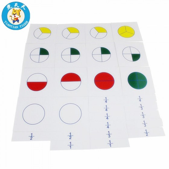 Baby Toys Material Early Education Teaching Aids. Cards For Large Fraction Skittles.