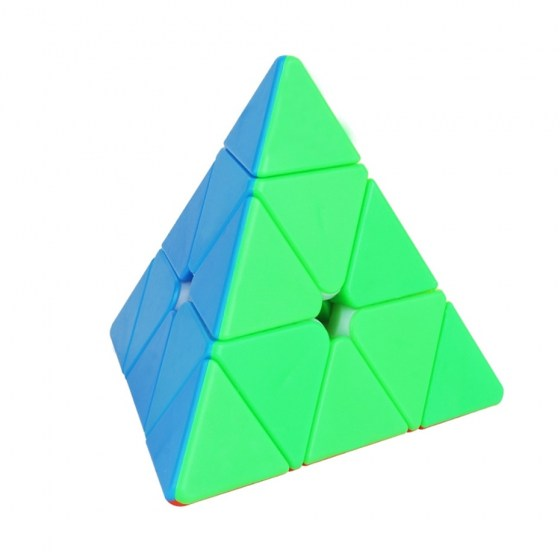 Pyramid Magic Cube High Quality Professional Speed Puzzle Cube Stickerless Colorful Fidget Toys For Children Adults