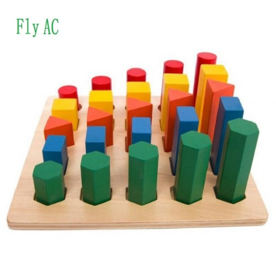 Montessori Educational Wooden Toys For Children Geometry ladder Toy Baby Development Practice and Senses Toys