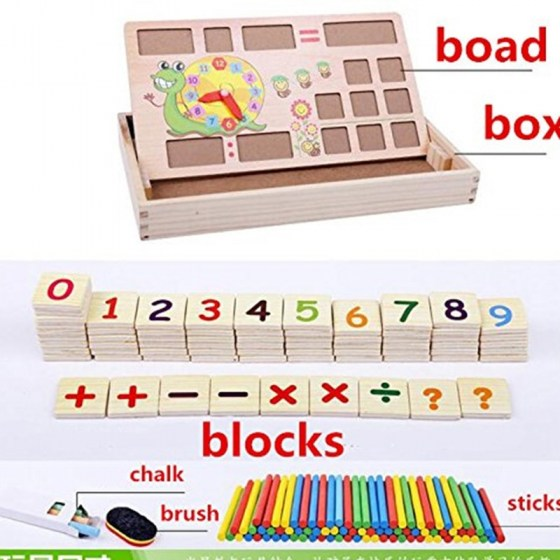 Montessori Teaching Aids Multifunctional Math Operation And Drawing Box Learning Preschool Early Childhood Educational Toys