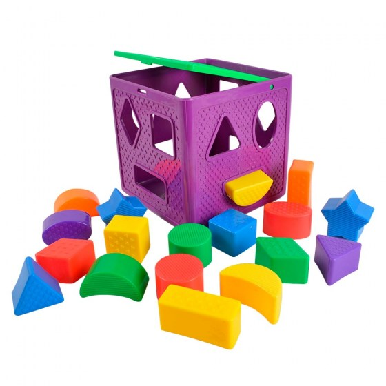 BOHS Shape Sorting Cube Geometric Shapes Sorters Baby Toys, with 18 Blocks and  1 Cube