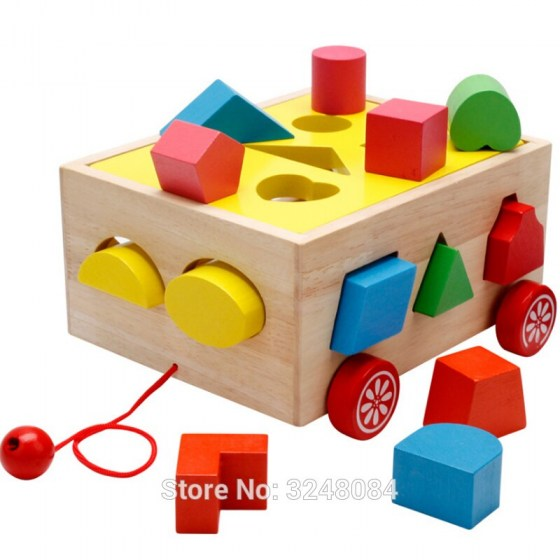 New Sale Wooden Toys Match Classic Colourful Wooden Multi Shape Sorter Block For Kids Gift Juguetes Matching Toy Montessori Gift