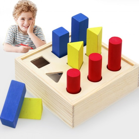 New Intelligence Box Wooden Shape Sorter Baby Cognitive and Matching Building Blocks Kids Children Early Eductional Toys D78