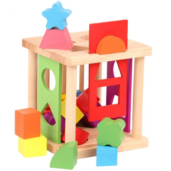 Wooden Shape Matching Building Blocks Match Shape Sorter Cognitive Geometric Educational Toys For Kids Christmas Gifts 2019