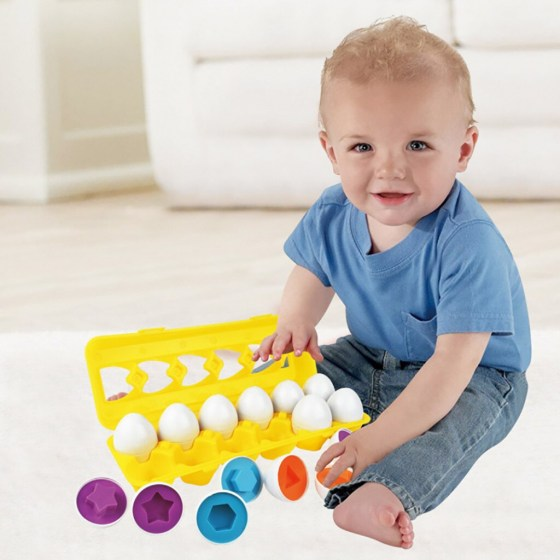 IQ Color & Shape Sorter Matching Egg Set Educational Learning Toy Kids Gift 12pcs Childhood Enlightenment educational toy