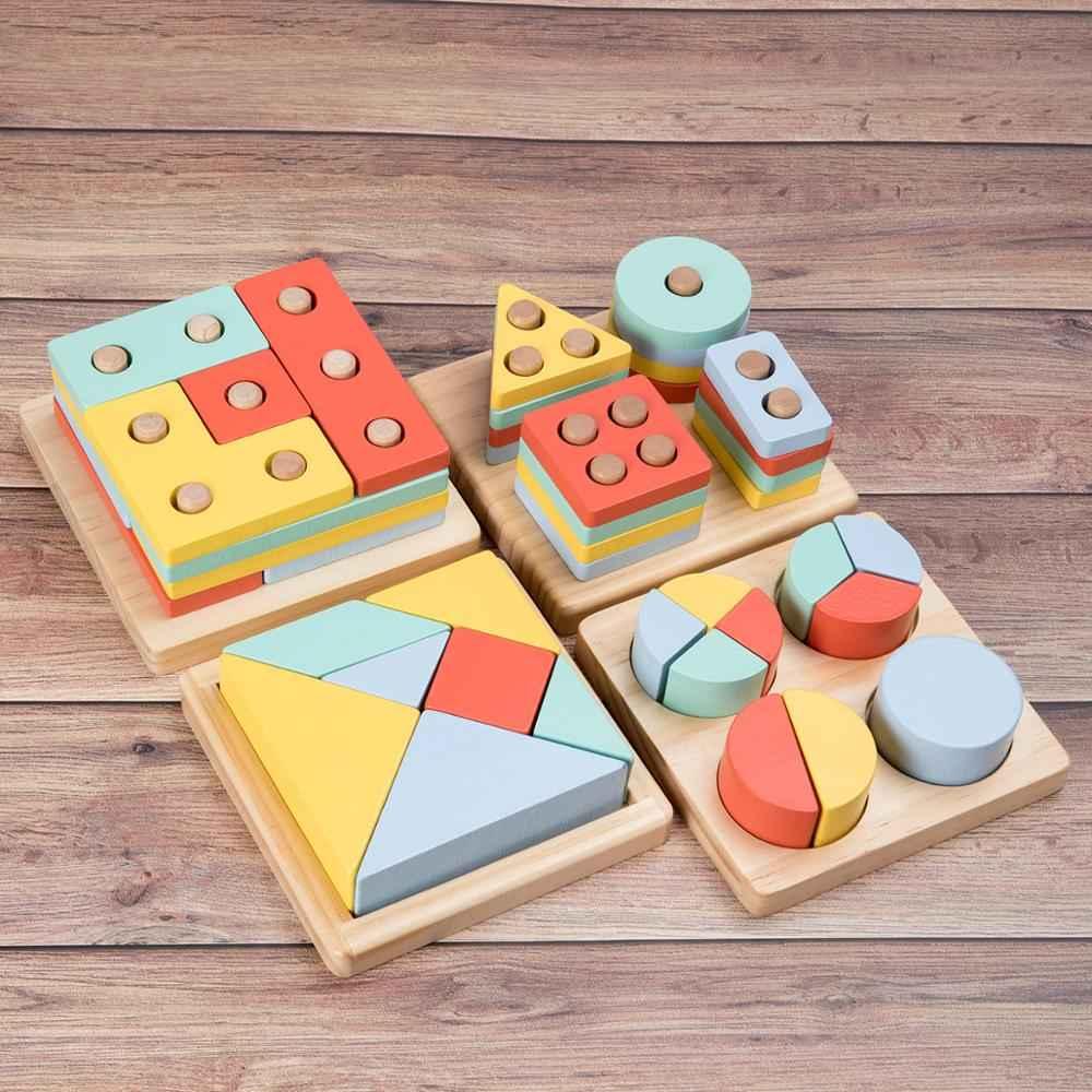 Kids Toys Wooden Toys Montessori Materials Geometry Shape ...