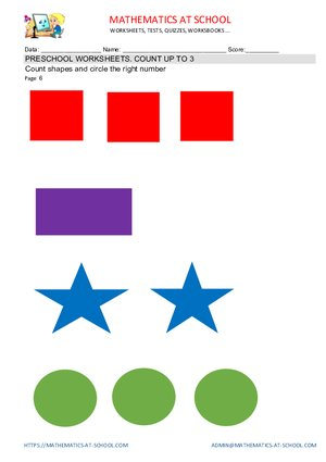 Preschool Counting Worksheets Counting Up To 3 Free Printable Pdf